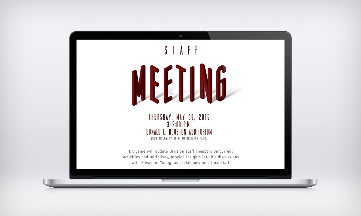 Staff Meeting Announcement Template Kim Topp