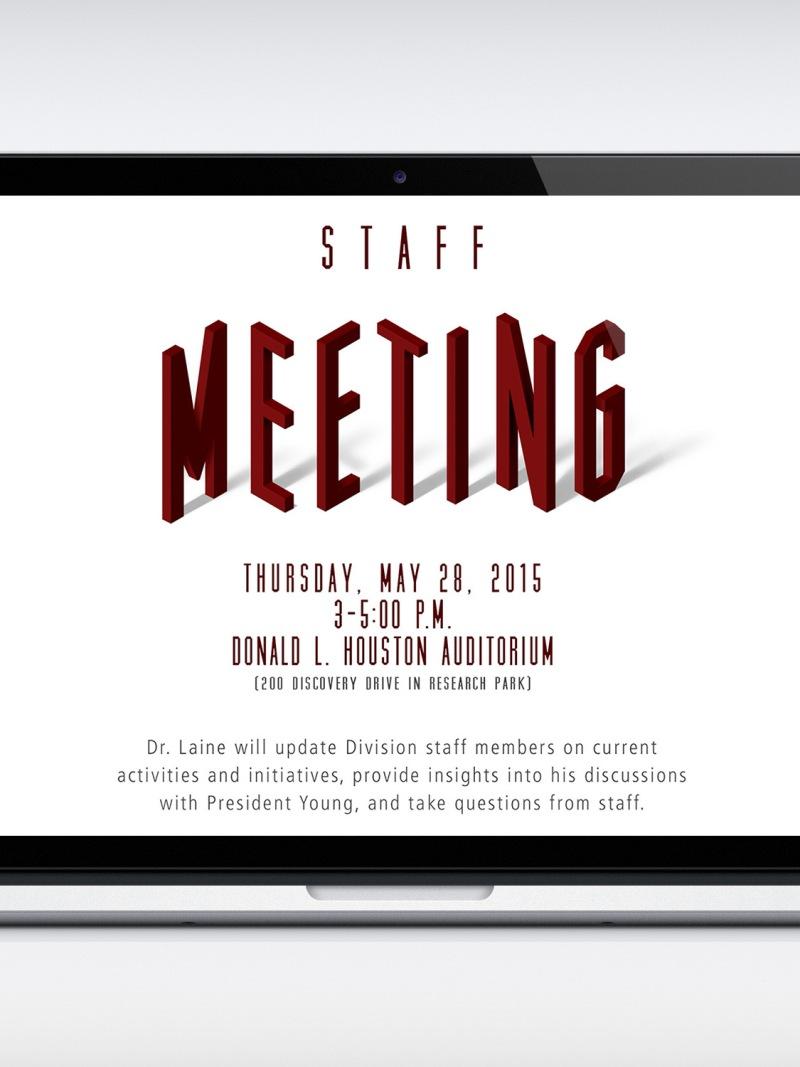 Staff Meeting Announcement Template Kim Topp – Announcement Template